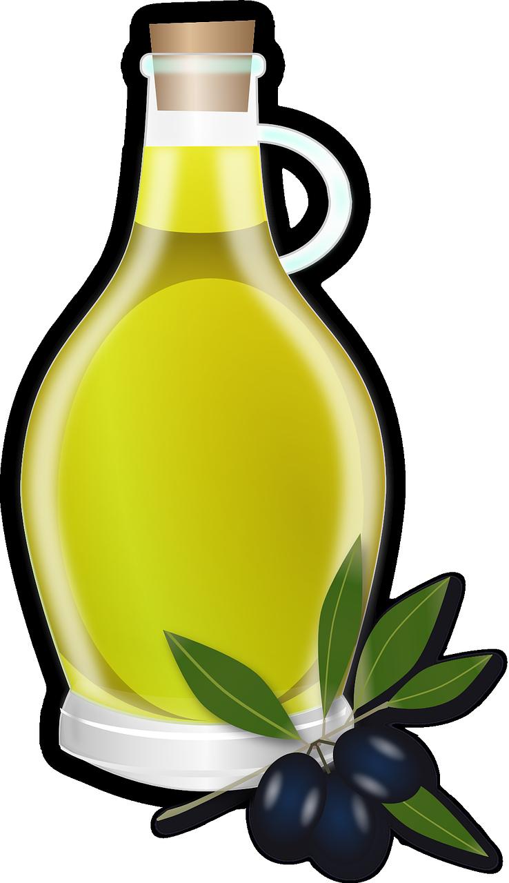 Olivenöl-Flasche-Transparent